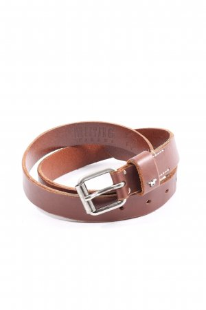 Mustang Leather Belt brown casual look
