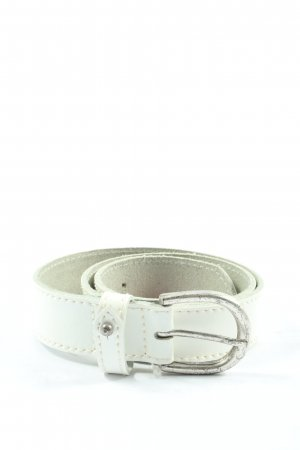Mustang Leather Belt white casual look