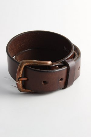 Mustang Leather Belt brown business style