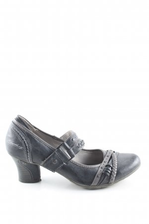 Mustang Mary Jane Pumps hellgrau Vintage-Look