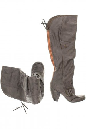 Mustang Overknees grey-orange