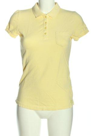 Mustang Camiseta tipo polo amarillo pálido look casual