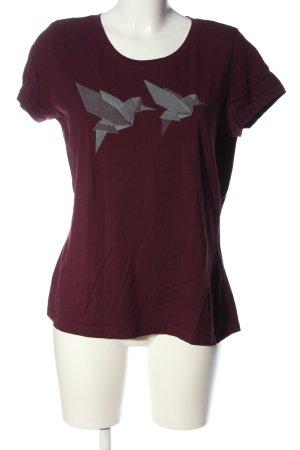 Mustang Print-Shirt pink-hellgrau Motivdruck Casual-Look