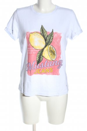 Mustang Print-Shirt Motivdruck Casual-Look