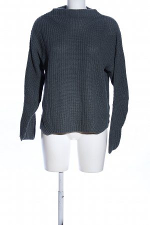 Mustang Turtleneck Sweater light grey cable stitch casual look