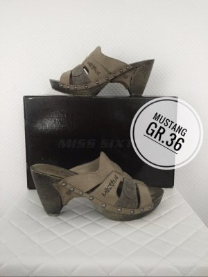 Mustang Sandalen Pumps Schuhe 36 grau blogger vintage Marken Sale