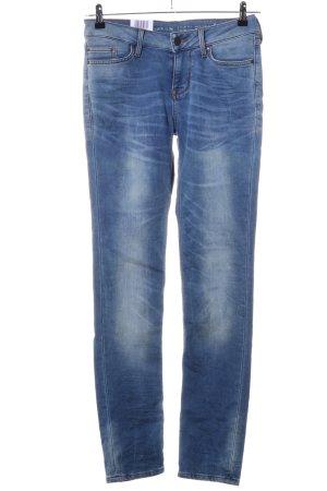 Mustang Slim jeans blauw casual uitstraling