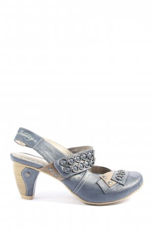 Mustang Slingback pumps blauw-wolwit casual uitstraling
