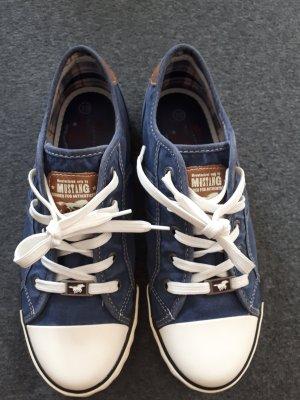Mustang Shoes Basket à lacet bleu acier