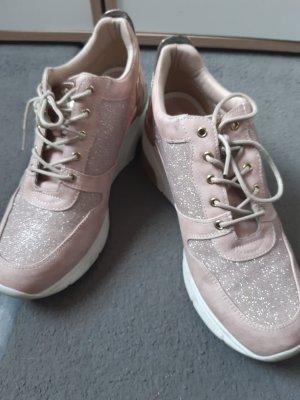 Mustang Shoes Basket compensée vieux rose
