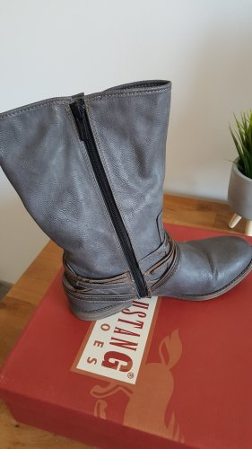 Mustang Shoes Wide Calf Boots multicolored