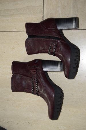 Mustang Shoes Booties blackberry-red