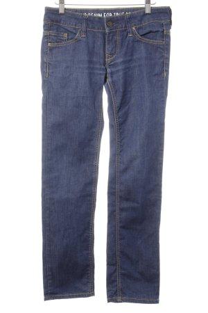Mustang Straight-Leg Jeans dunkelblau Street-Fashion-Look