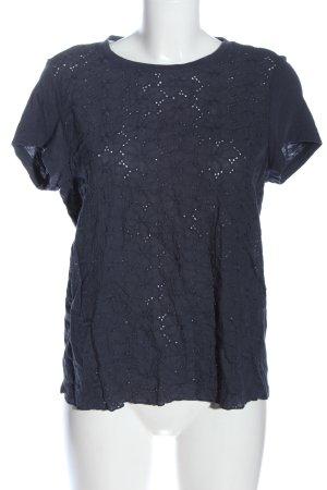 Mustang T-shirts en mailles tricotées bleu style décontracté