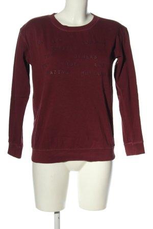 Mustang Sweatshirt rot Schriftzug gedruckt Casual-Look