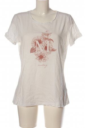 Mustang T-shirt bianco motivo floreale stile casual