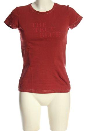 Mustang T-shirt rouge moucheté style décontracté