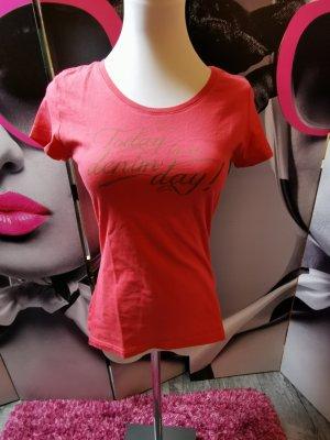 MUSTANG ♥ T Shirt mit Schrift - Gr. 34 XS