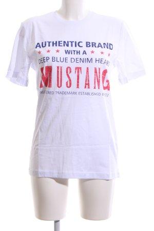 Mustang T-Shirt Schriftzug gedruckt Casual-Look