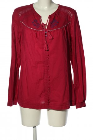 Mustang Tunikabluse rot Blumenmuster Casual-Look