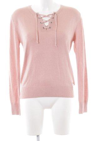 Mustang V-Ausschnitt-Pullover rosé Casual-Look