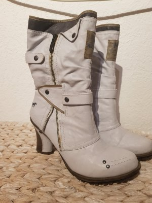 Mustang Shoes Winter Booties white