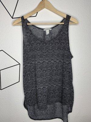 H&M Muscleshirt wit-zwart