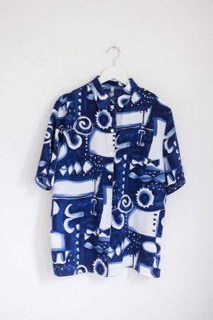 Vintage Chemise hawaïenne bleu-blanc
