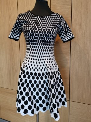 Vestito di lana bianco-nero