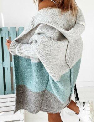 stylelistic Cappotto a maglia multicolore
