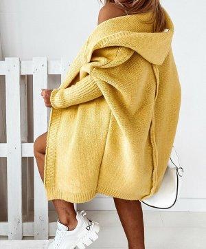 stylelistic Cappotto a maglia giallo pallido-giallo