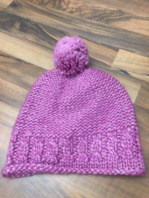 Loevenich Chapeau en tricot violet