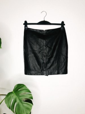 Muubaa Leather Skirt black-silver-colored