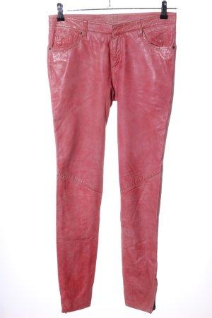 Muubaa Pantalon en cuir rouge cuir