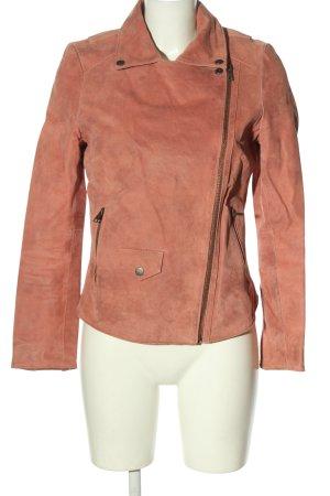 Muubaa Veste en cuir rose style décontracté