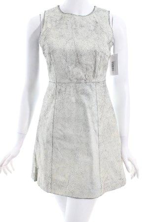 Muubaa Leren jurk wit-zwart feest stijl