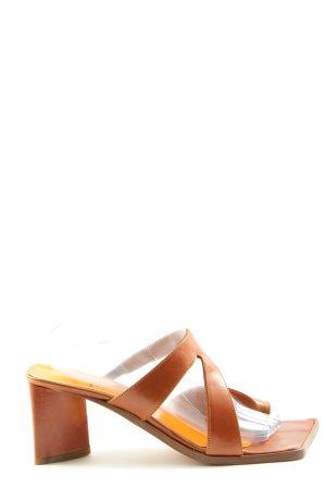 Muxart Heel Pantolettes light orange elegant