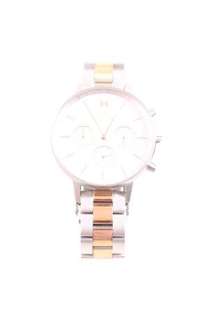 MVMT Orologio con cinturino di metallo argento-color oro rosa elegante