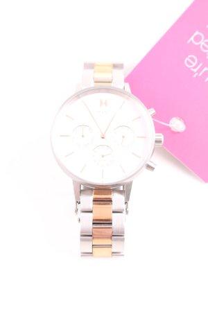 MVMT Uhr mit Metallband silberfarben-roségoldfarben Elegant