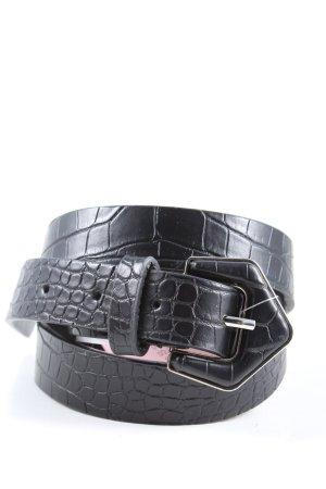 My Accessories London Cinturón de cuero de imitación negro look casual