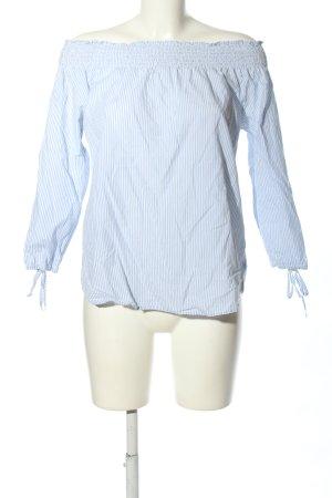 my blue by Tchibo Schlupf-Bluse weiß-blau Streifenmuster Business-Look