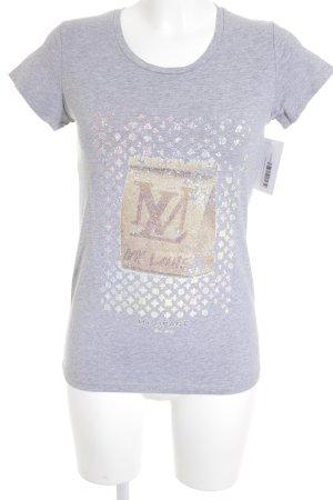 MY BRAND T-Shirt hellgrau meliert Casual-Look