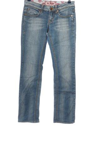 My God Straight-Leg Jeans blau Casual-Look