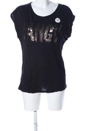 My Haily's Print-Shirt schwarz-bronzefarben Motivdruck Casual-Look