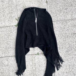 Hailys Poncho en tricot noir
