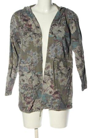 My Holly's Shirtjack khaki-lichtgrijs volledige print casual uitstraling