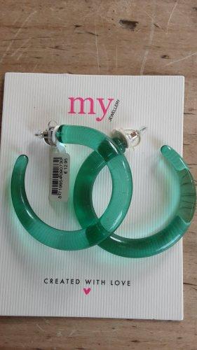 my jewellery, modeschmuck, transparent grüne Ohrstecker