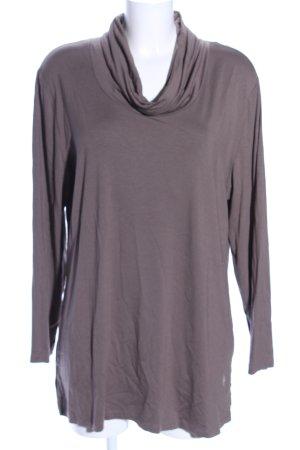 My Line Camisa de cuello de tortuga gris claro look casual