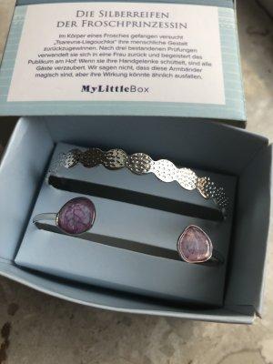 my little box Braccialetto argento-malva