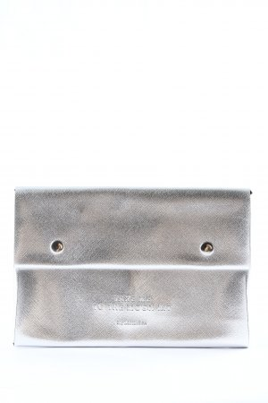 my little box Clutch silver-colored printed lettering casual look